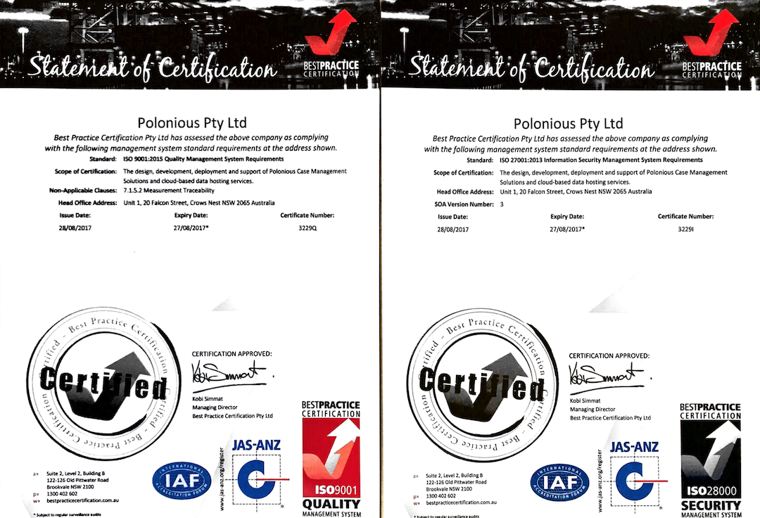 ISO 27001 & 9001 Certification